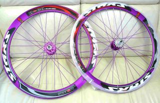 700c Deep 60mm Road Bike Wheels Rims with SEALED Bearing Purple
