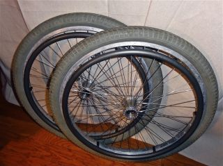 SunRims 24 x 2.125 wheels, thick tread tires   for TiLite  Quickie