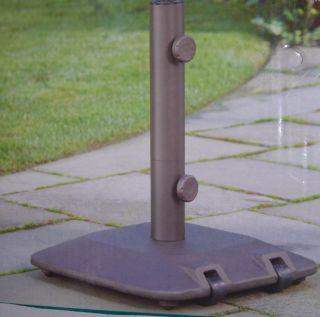 Cast Iron Outdoor Patio Umbrella Base Stand w Wheels