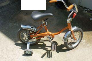 Schwinn Lil Tiger Stingray Bike Bicycle Gold w Training Wheels