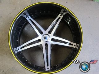 One asanti AF144 22 22x10 5 25mm Rim Wheel Yellow Black Machined