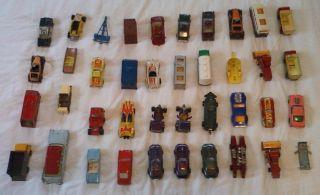 40 car Hot Wheels Redline Topper Johnny Lightning Dinky Matchbox junk
