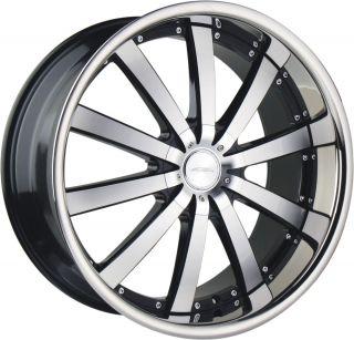 22 Ace Executive Black Stainless Wheels Rims Porsche Cayenne Audi Q7