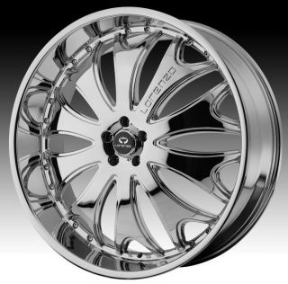 24 inch Lorenzo WL029 Chrome Wheels Rims 6x5 5 6x139 7 Hummer H3 Chevy