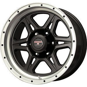New 17x9 6x139 7 Level 8 Strike 6 Black Wheels Rims