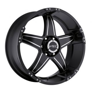 18 inch V Tec Wizard Black Wheels Rim 6x5 5 6x139 7 12 Tahoe Yukon FJ