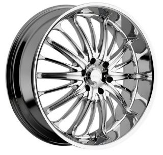26 inch Akuza Belle Chrome Wheels Rims 6x5 5 6x139 7 Tahoe Avalanche