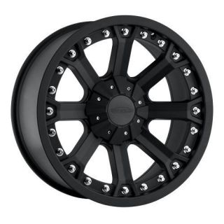 Pro Comp 7033 17x9 Black Wheels 5 Lug JK CJ RAM 1500