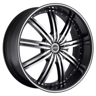 24 inch Strada Nove Black Wheels Rims 6x135 Ford F150 Expedition