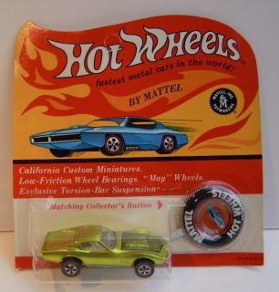 1969 Hot Wheels Custom Corvette Redline Blister Unpunched