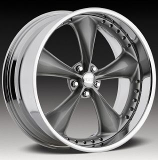15 FOOSE Wheel Nitrous Chrome Rim FOOSE Nitrous Grey