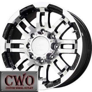 17 Black Vision Warrior Wheels Rims 8x165 1 8 Lug Chevy GMC Dodge 2500