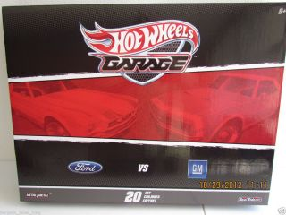 SCARCE HOT WHEELS GARAGE FORD vs GM Collectors Set 20 Cars NEW FREE