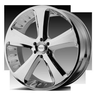 22 Chrome Rims Circuit 5x139 Tires Dodge RAM Durango