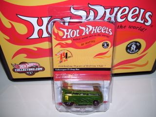 Hot Wheels RLC T1 VW DRAG BUS w Subscription Tin Only 2000 made