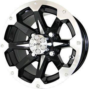 New 12x7 4x110 G FX ATV 6 Shooter Black Wheels Rims