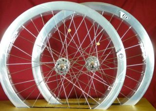 New Origin 8 Track Fixed Gear Wheelset Silver Fixie SS