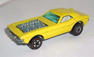 Original Hot Wheels Redline Show Off 1973 Enamel Yellow White Int