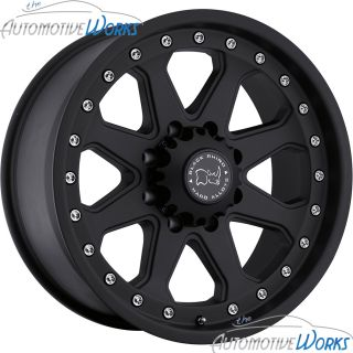 Imperial 8x165 1 8x6 5 12mm Matte Black Rims Wheels inch 17