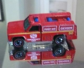 Emergency Squad Rescue Truck Redlines Very Good Condition 1974