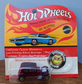1968 Mattel Hot Wheels Redline 32 Ford Vicky Classic MIP Blister Pack