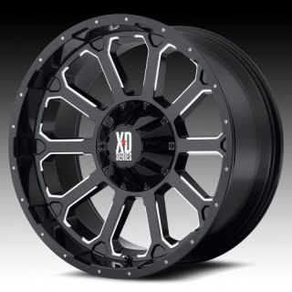 XD Series Bomb XD806 Wheel Set 20x9 Black Milled Offroad Rims