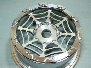 2X Rear Spiders CNC Alloy Wheel Rims HPI Baja 5B Tires