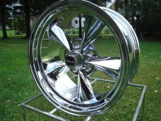 Racing Hotrod 17x9 Chrome Ford Chevy Wheels Mopar GM 675 Series