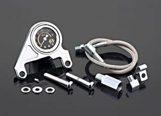 Arlen Ness Chrome Oil Gauge Kit 4 Harley Twin Cam