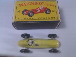 100 Authentic Lesney Matchbox Series 52 Maserati 4 CLT 1948 Vintage