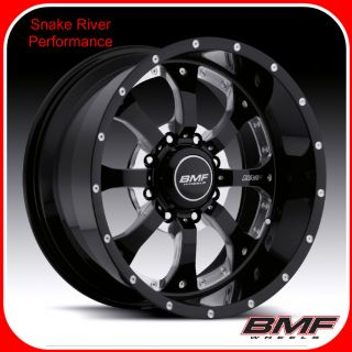 BMF WHEELS 8x180 20x9 NOVAKANE DEATH METAL BLACK 11 12 CHEVY GMC