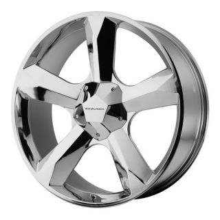 22 KMC 22 inch Clone 5 Lug 6 Lug Chrome Wheels Rims Set of 4