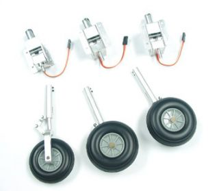 Metal Electric Retracts Full Set with Struts Wheels for T 33