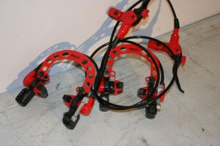 Red MAGURA Evolution Hydraulic Rim Brakes Complete set calipers Tomac