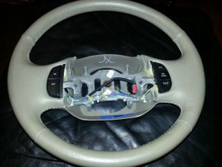 2000 Ford Expedition Eddie Bauer OEM Steering Wheel With Cruise Tan