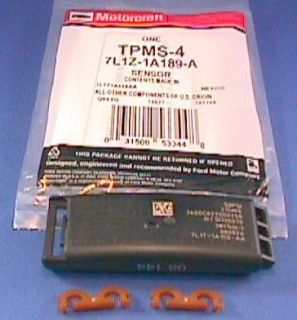 New Tire Pressure Sensor Motorcraft TPMS 4 Ford 7L1Z 1A189 A