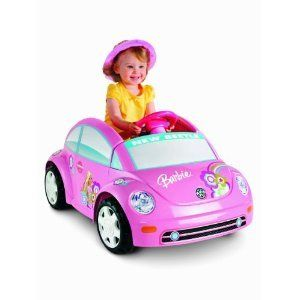 New Barbie Pink Power Wheels Wheel Volkswagen Beetle On