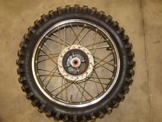 HONDA XR80 CRF80 REAR WHEEL TIRE RIM 14 xr 80 04 05 06 07 08 00 99 98