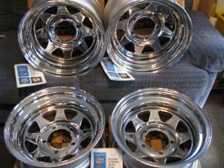 Chrome Wagon Wheels Crager Van Rims Vintage Truck Rims