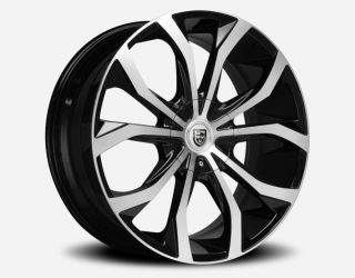17x7 5 LEXANI LUST BLACK MACHINED FACE 5x100 5x4 5 5x114 3 WHEEL RIM
