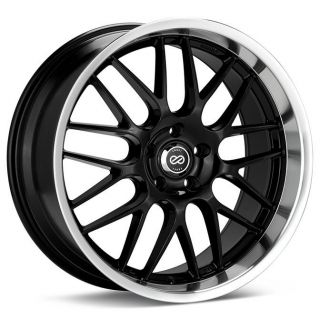 18 ENKEI LUSSO BLACK RIMS WHEELS LEXUS IS250 IS300 RX7 RX8 M45 G35