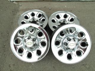 12 GMC Chevy 1500 Silverado 17 Factory OEM Chrome 6 Lug Wheels Set 4
