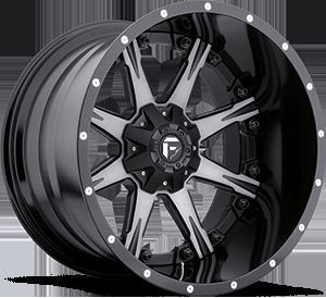 Nutz D252 Two Piece Wheel Set Black Machined 20x12 Rims Ford