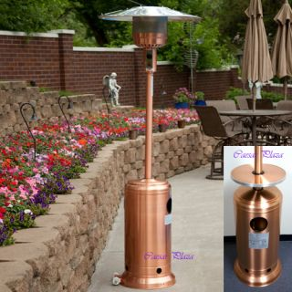 New Garden Propane Outdoor Copper Patio Heater w Table