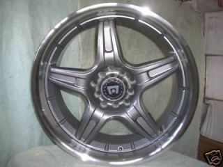 17 Inch Gun Metal Motegi RIMS 5 Lug Wheels Ford Mustang Honda Civic