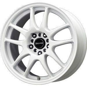 New 16x7 5x100 5x114 3 Drag Dr 31 White Wheels Rims