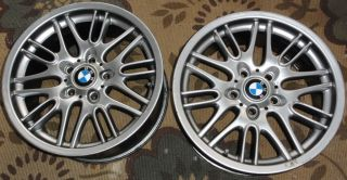 BMW 17 aluminum alloy wheels OEM M5 rims w center caps emblems Germany