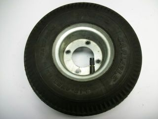 Go Cart Golf Wheel barrow Wheel Dolly Lawn Mower Tire & Rim 4.10 4NHS