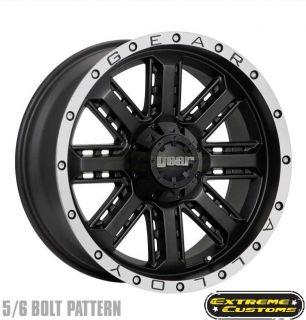 723MB Nitro Black Machined 5 6 8 Lugs Wheels Rims Free Lugs