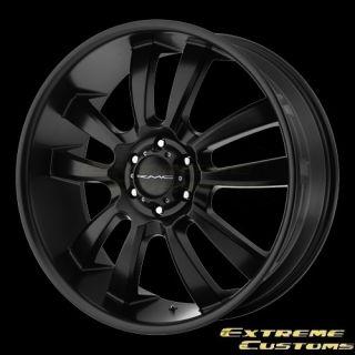 x9 KMC Wheels KM673 Skitch Satin Black 5 6 Lug Rims Free Lugs